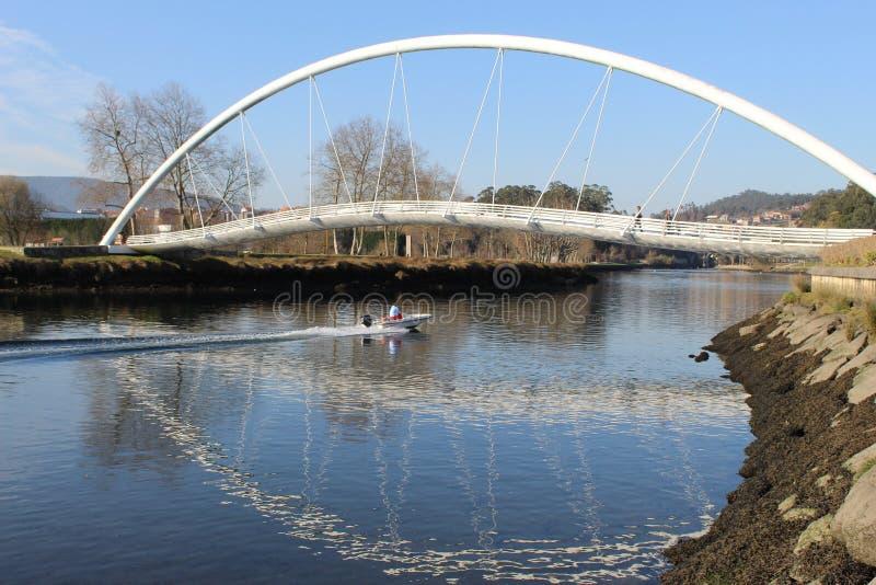Rohrbrücke in Pontevedra stockfotografie