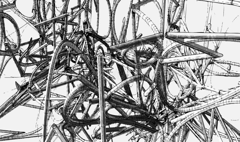 Rohrdiagramm stock abbildung. Illustration von künstlerisch - 4588749
