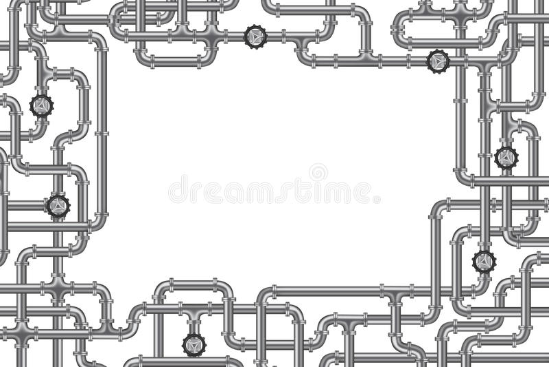Rohrleitungen mit Ventil und Lots Exemplarplatz lizenzfreie abbildung