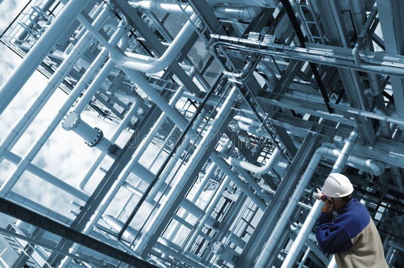 Rohrleitungen und Ingenieur lizenzfreie stockfotografie