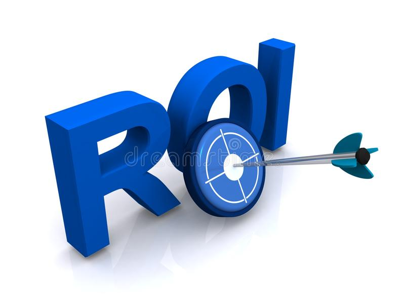 ROI标志 向量例证