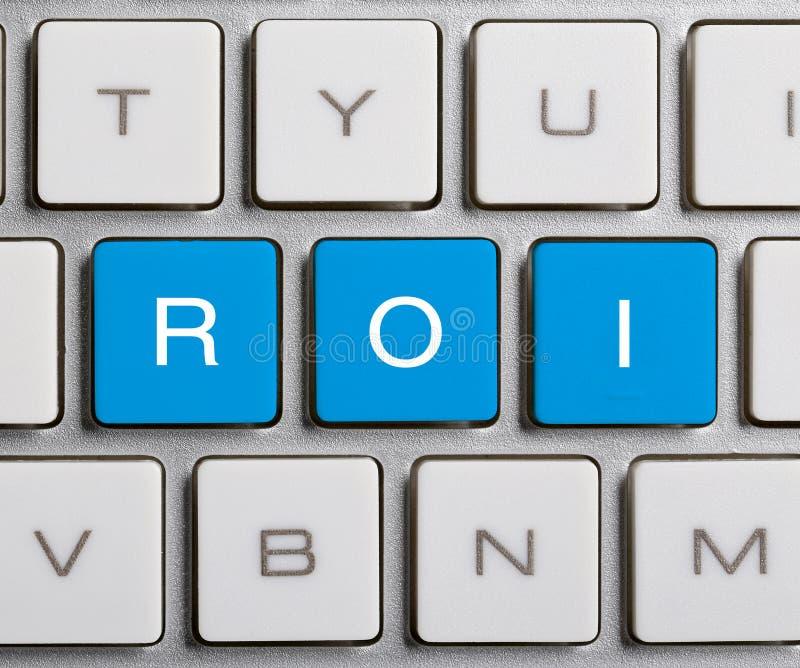 ROI στο πληκτρολόγιο στοκ εικόνες με δικαίωμα ελεύθερης χρήσης