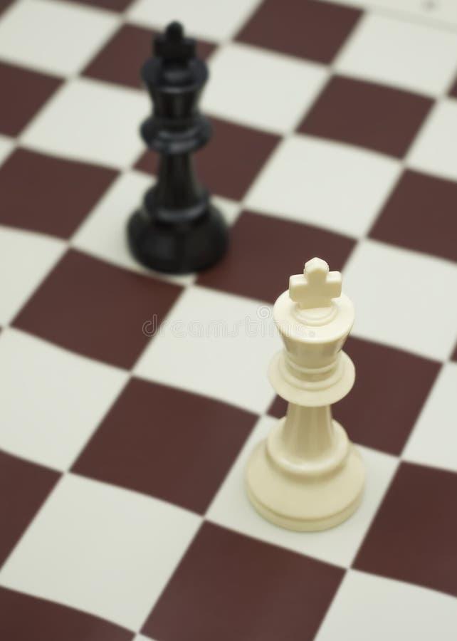 Roi blanc et noir photographie stock