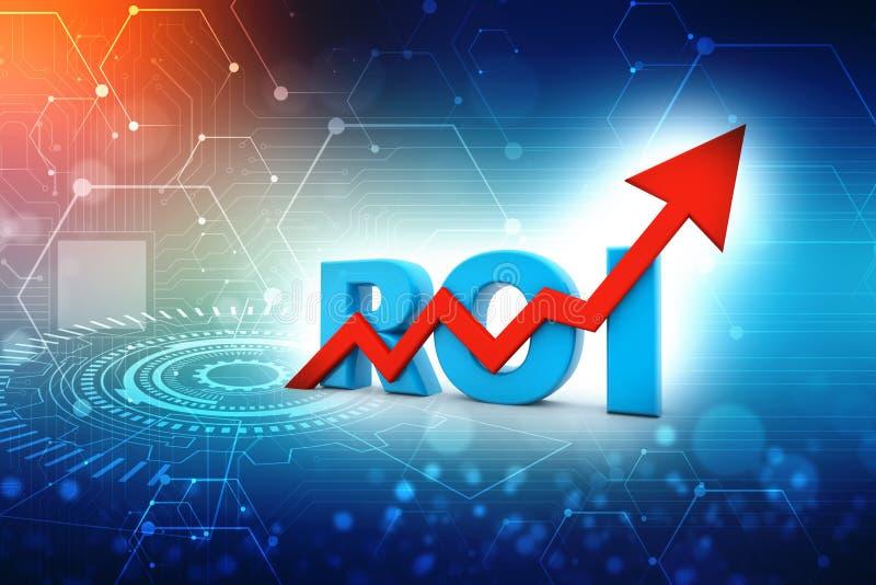 ROI Concept Retour sur l'investissement 3d rendent photographie stock libre de droits