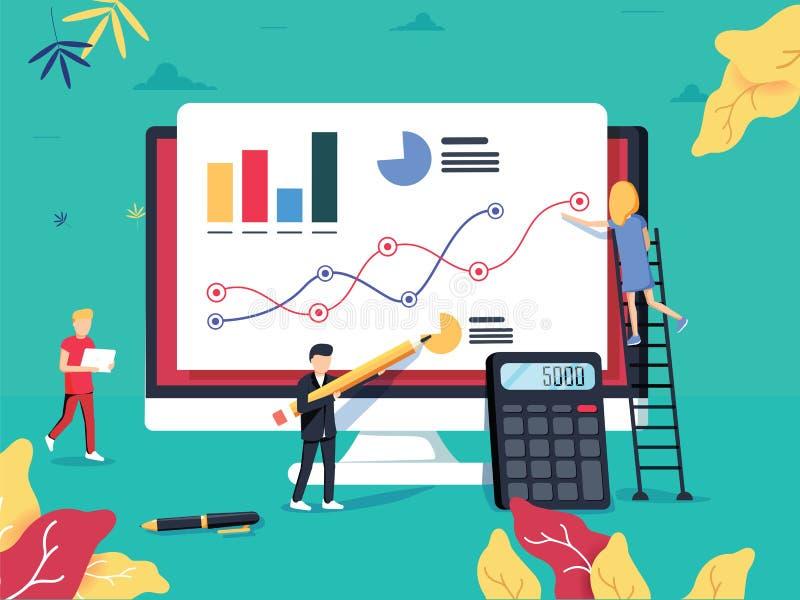 ROI Concept Retour sur l'investissement Vente d'affaires de ROI Profi illustration de vecteur
