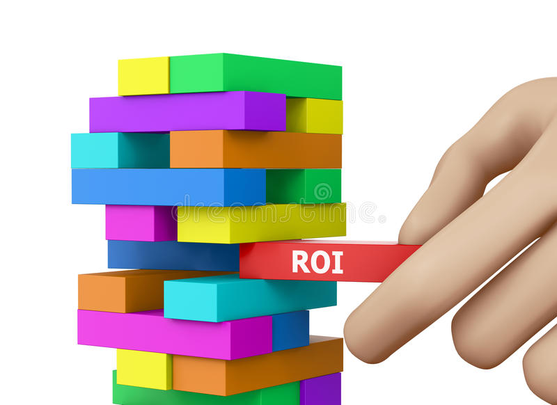 Roi. CONCEPT wood blocks 3d rendering stock photo