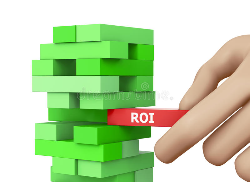 Roi. CONCEPT wood blocks 3d rendering stock photography