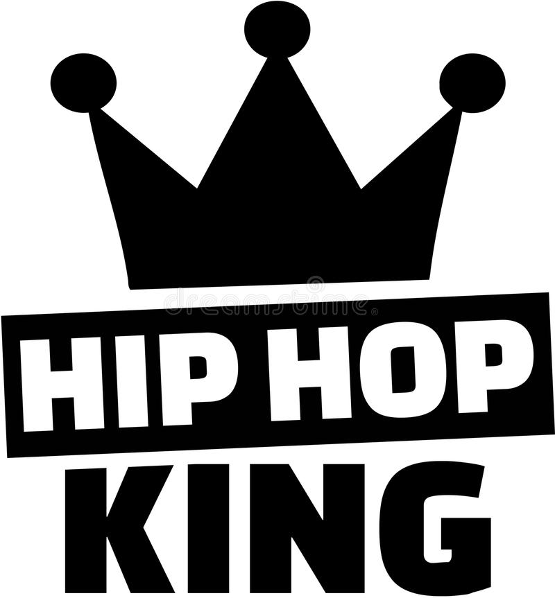 Roi d'houblon de hanche avec la couronne illustration de vecteur