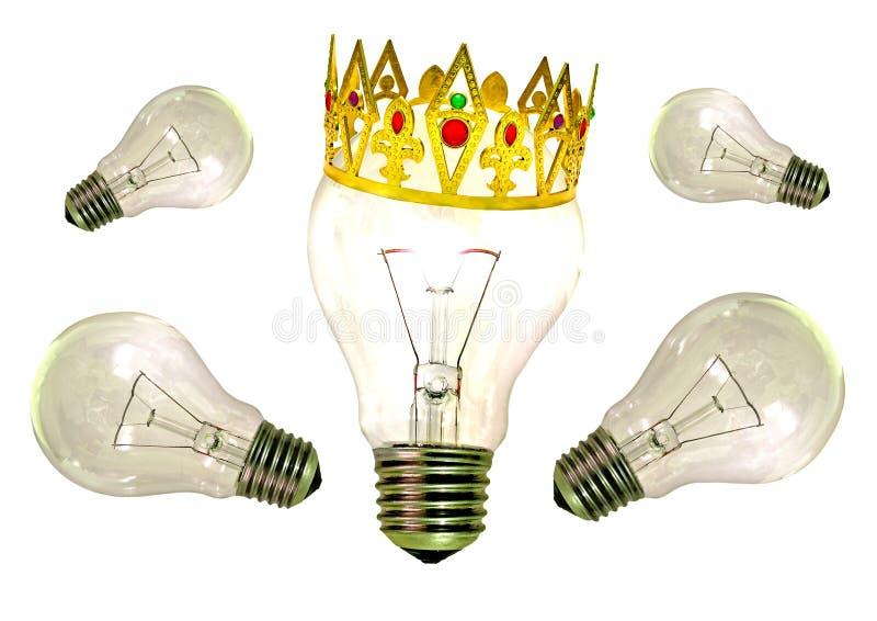 Roi d'idée lumineuse d'idées image libre de droits