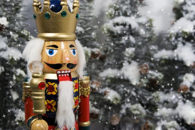 Roi de casse-noix de Noël photographie stock