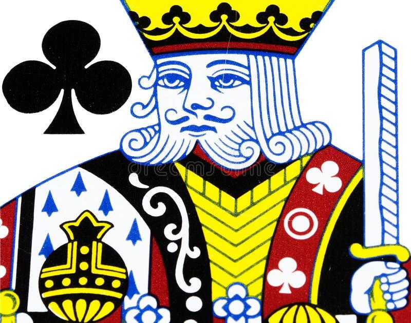 Roi de club jouant la carte image stock