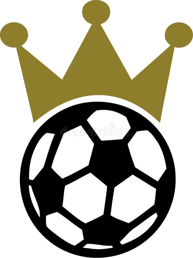 Roi de couronne du football du football illustration de vecteur