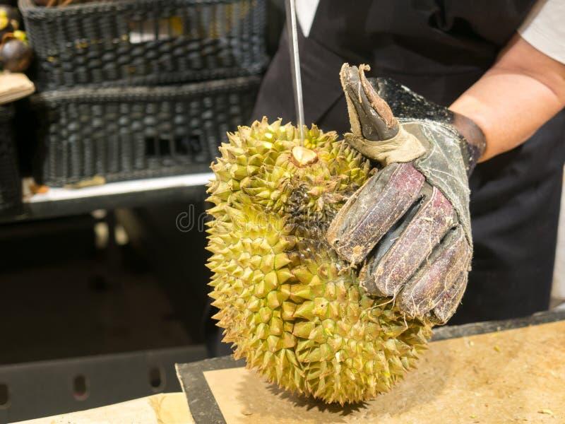 Roi de durian de fruit en Thaïlande images stock