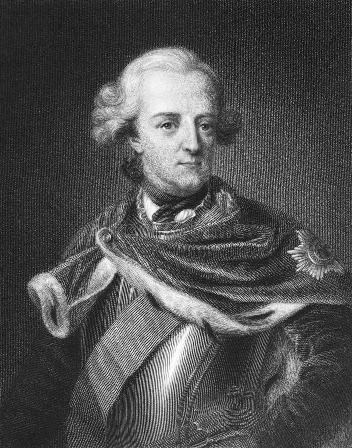 Roi de Frederick II de la Prusse images libres de droits