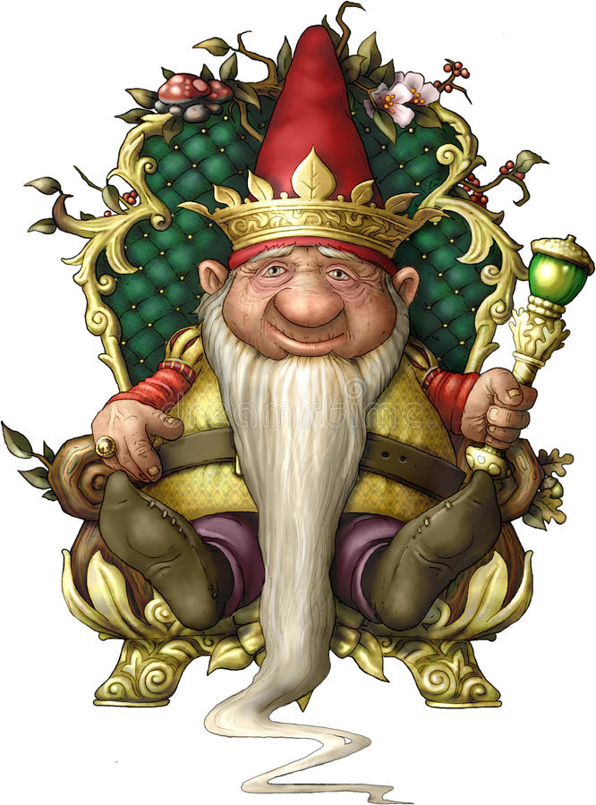 Roi de Gnome photo stock
