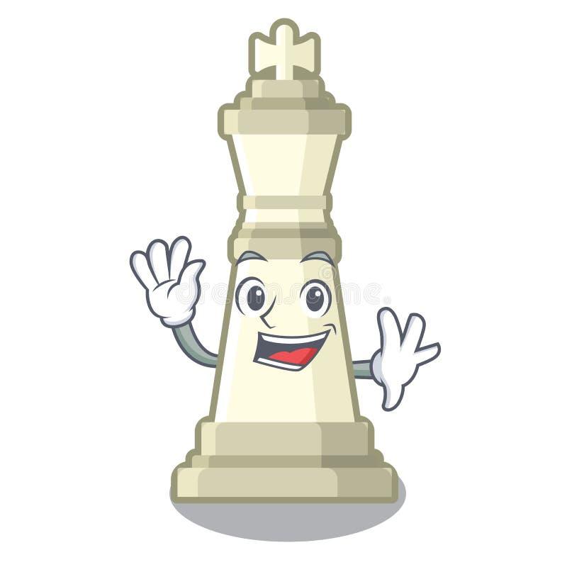 Roi de ondulation d'échecs sur la mascotte illustration stock