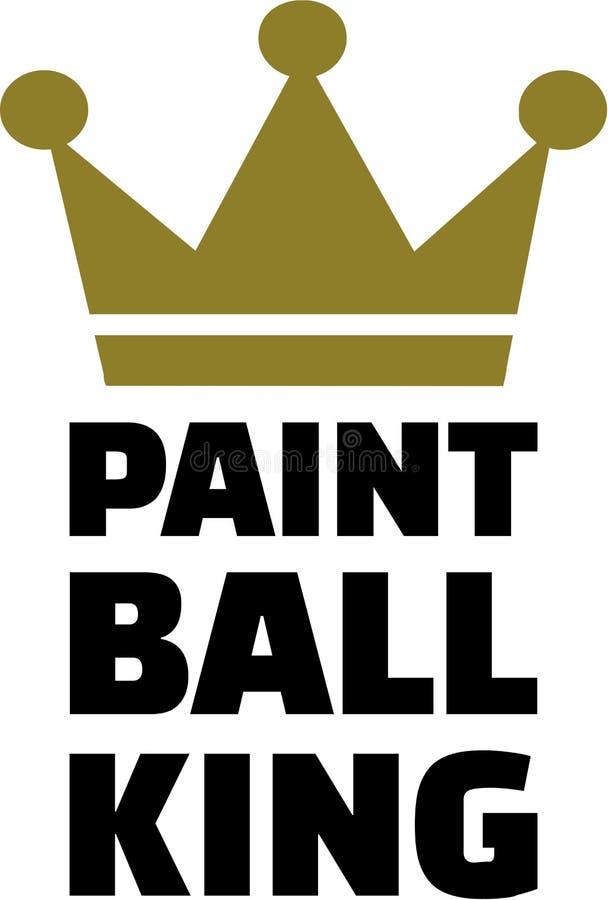 Roi de Paintball illustration stock