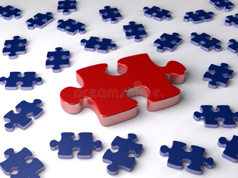 Roi de puzzle denteux images libres de droits