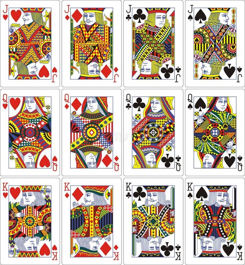 Roi de reine de plot des cartes de jeu 62x90 millimètre illustration de vecteur