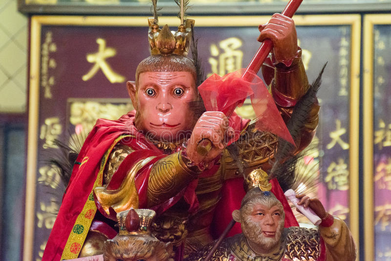 Roi de singe à Bangkok Chinatown image stock