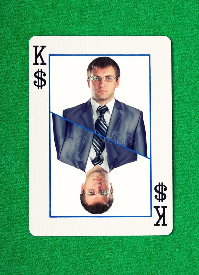 Roi des dollars jouant la carte photo stock