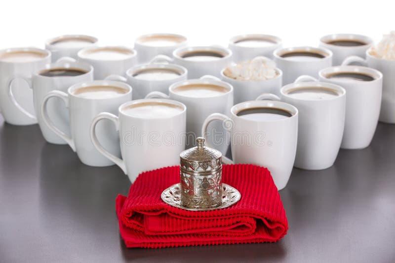 Roi des tasses de café photographie stock libre de droits