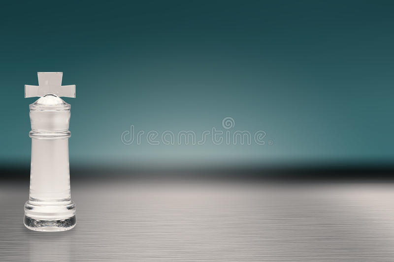 Roi en cristal d'échecs illustration stock