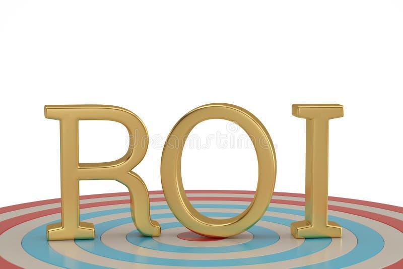 ROI et cible d'isolement sur l'illustration blanche du fond 3D illustration libre de droits