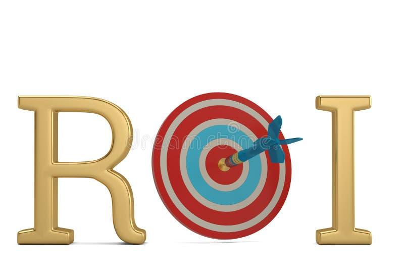 ROI et cible d'isolement sur l'illustration blanche du fond 3D illustration de vecteur
