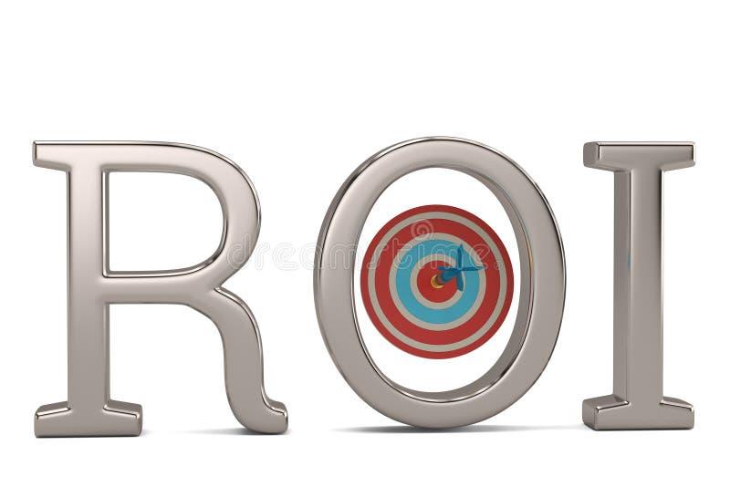 ROI et cible d'isolement sur l'illustration blanche du fond 3D illustration stock