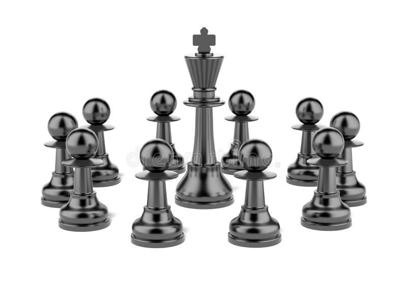 Roi et gage d'échecs illustration libre de droits