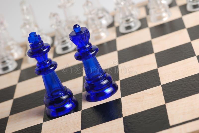 Roi et reine d'échecs photo libre de droits