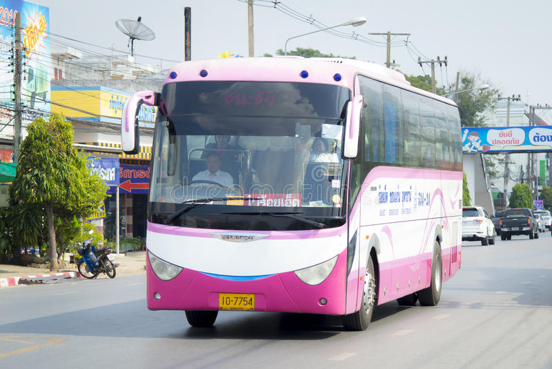 Roi Et to Maha Sarakham Province of suranaree air company bus car. Roi Et to Maha Sarakham Province of Roi Et air company bus car on the road city thailand royalty free stock photo