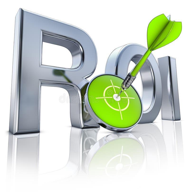 ROI icon. High resolution 3D rendering of a ROI icon stock photo
