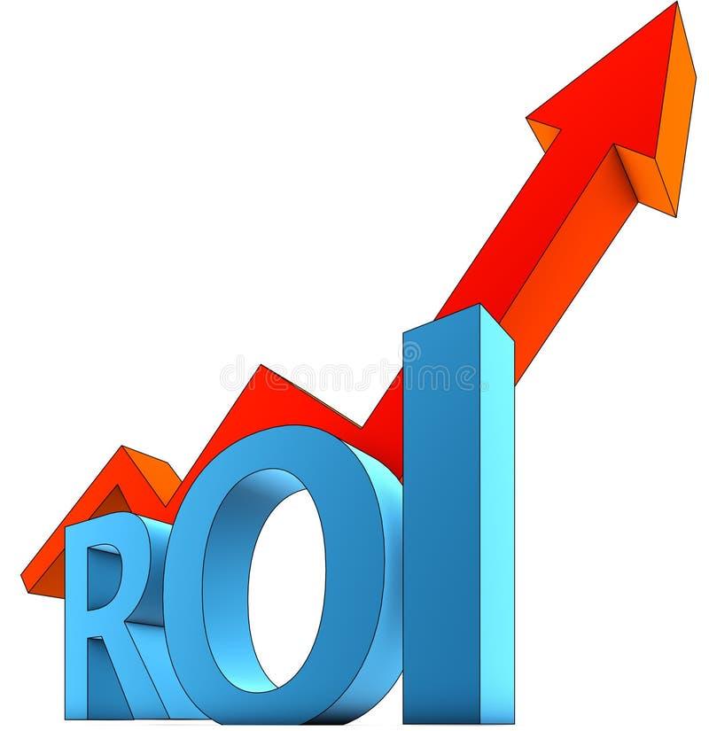 Download ROI icon stock illustration. Illustration of idea, growth - 34251164