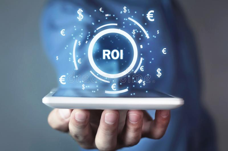ROI - Return on Investment. Business concept stock image