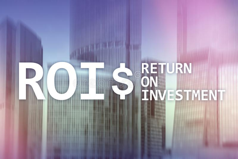 ROI - Return on investment, Financial market and stock trading concept. ROI - Return on investment, Financial market and stock trading concept vector illustration