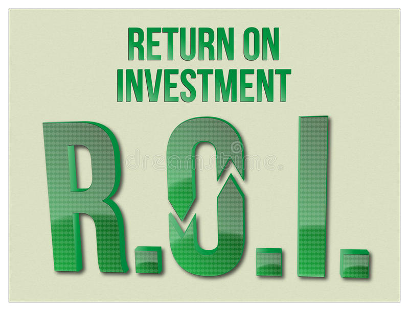 ROI Return On Investment-woorden stock foto's