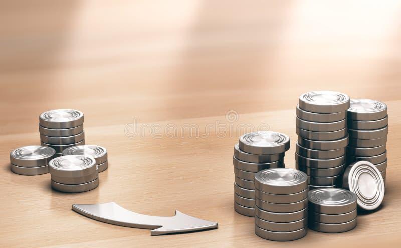 ROI, sehr rentable Investitions-Hintergrund lizenzfreie abbildung