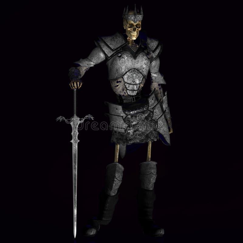 Roi squelettique #01 de guerrier illustration stock