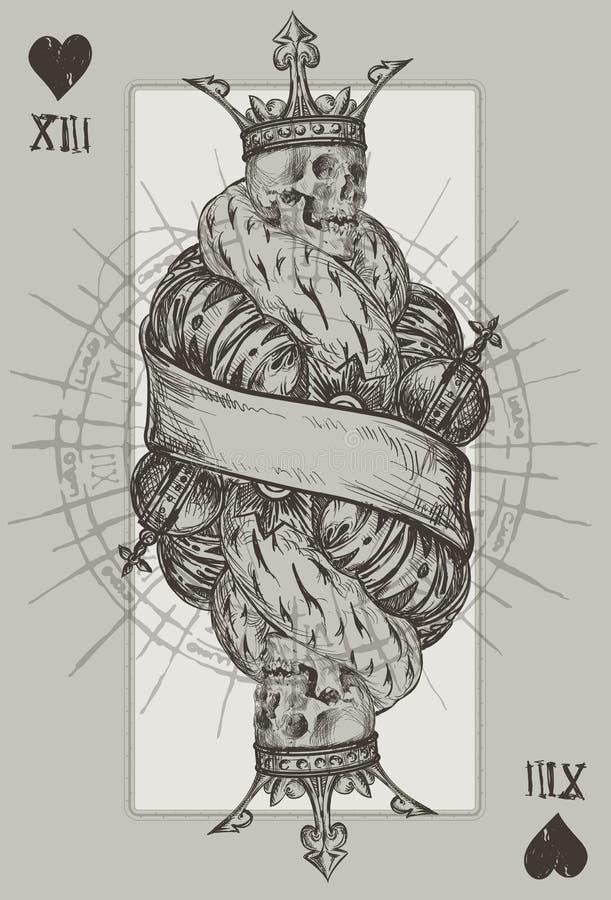 Roi squelettique illustration stock