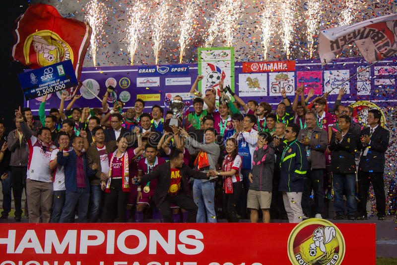 ROI-und Liga Champiobs Thailands D2 stockbild