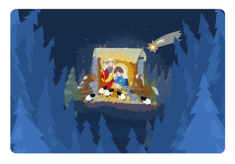 Rois religieux de l'illustration trois - et famille sainte illustration libre de droits
