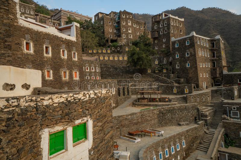 Rojal Heritage Vilage in Asir Province in Saudi Arabia royalty free stock photos