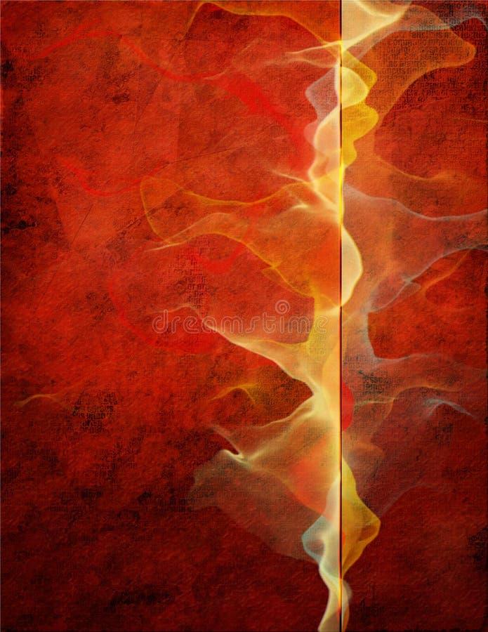 Rojo abstracto stock de ilustración