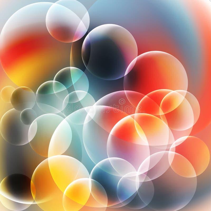 Download Rojo Abstracto Y El Azul Burbujea Fondo Ilustración del Vector - Ilustración de efecto, extracto: 100529310