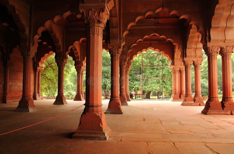 Rojo adelante en Delhi vieja imágenes de archivo libres de regalías