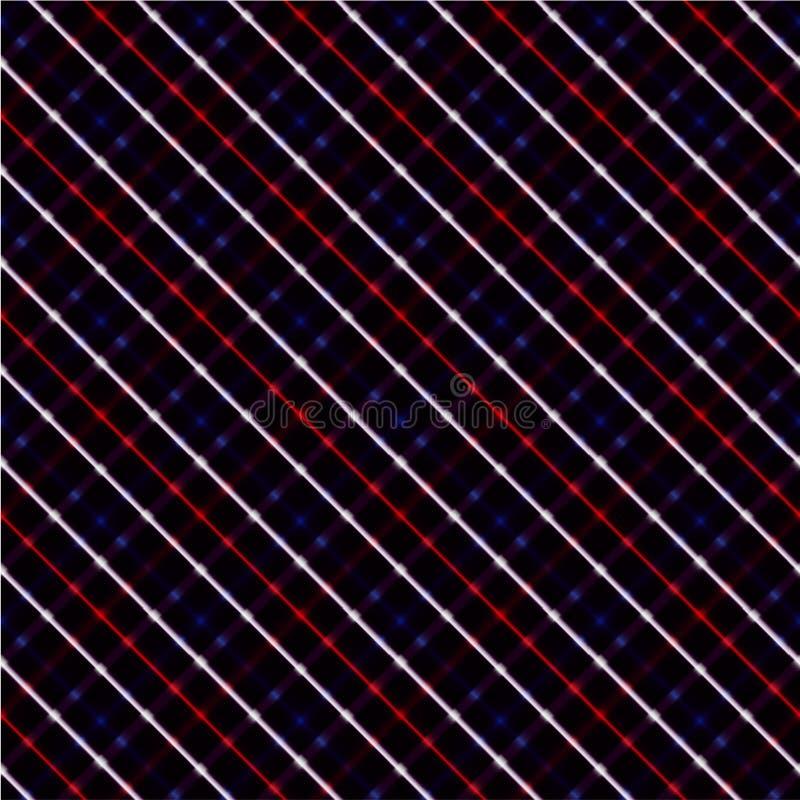 Rojo, blanco, el azul cruzó el fondo ilustración del vector