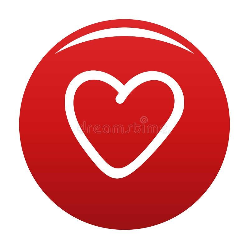Rojo codicioso del vector del icono del corazón libre illustration