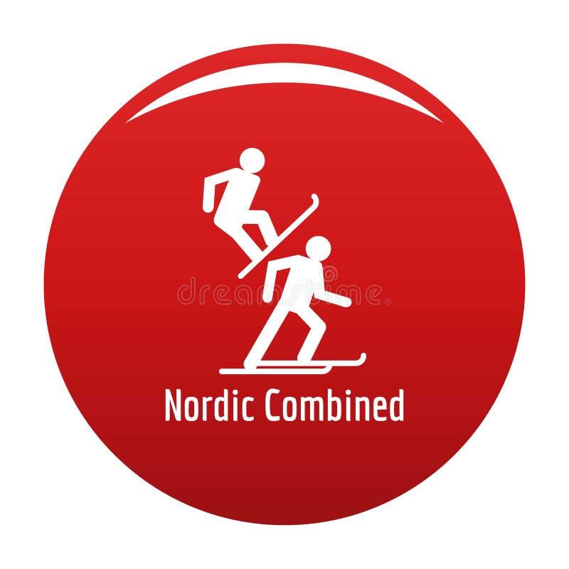 Rojo combinado nórdico del vector del icono libre illustration